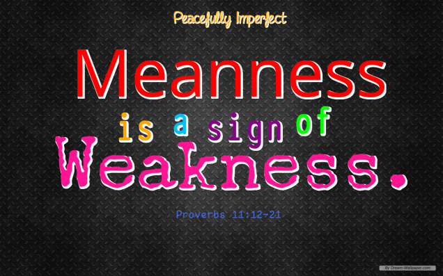 Meanness is a sign of weakness2
