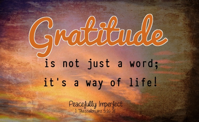 Gratitude is not just a word