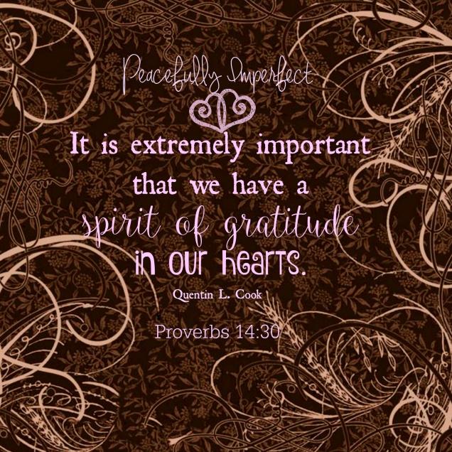Jealousy gratitude spirit